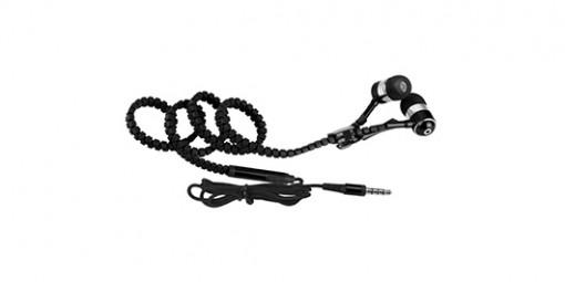 אוזניות סיליקון רוכסן עם מיקרופון