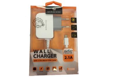 MIRACASE מטען חשמל + כבל מיקרו USB 1.5MI 2.1A