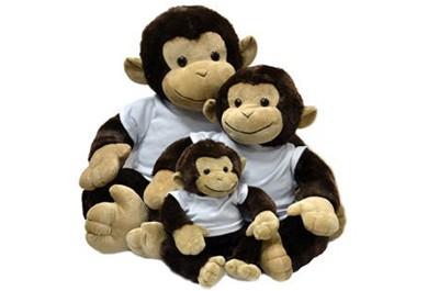קוף יושב בגדלים שונים + הדפסה על החולצה