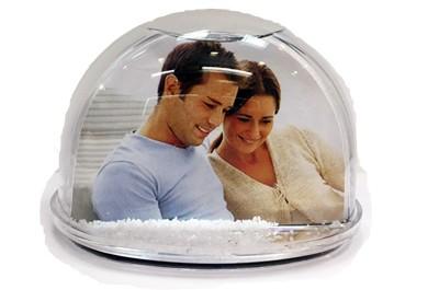 כדור שלג / לבבות + הדפסה על המוצר