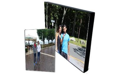 לוח הדבקה מעץ + הדפסת תמונה