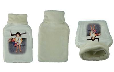 בקבוק מים חמים מרופד + הדפסה על המוצר