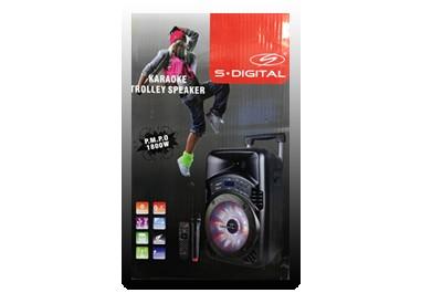 """בידורית קריוקי """"8 + מיקרופון AHY-800GB"""